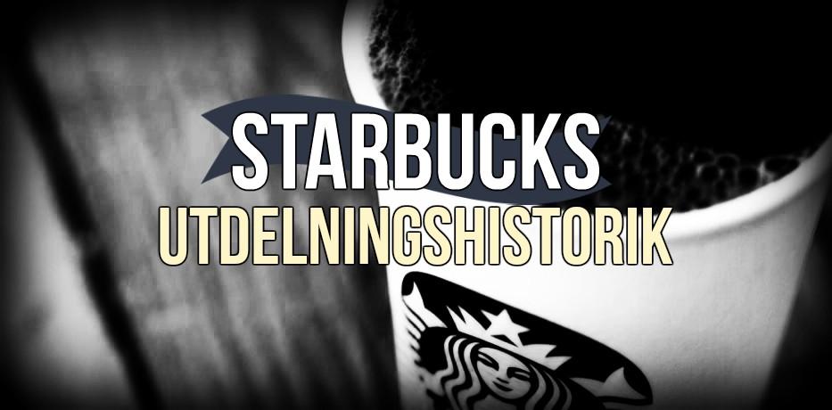 Starbucks utdelningshistorik (2018)