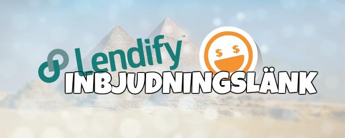 Lendify Inbjudningslänk – Gratis pengar?