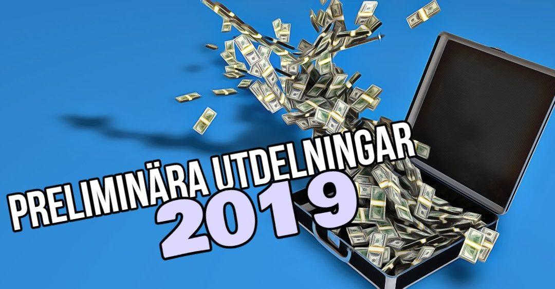 Pengar som rullar in 2019