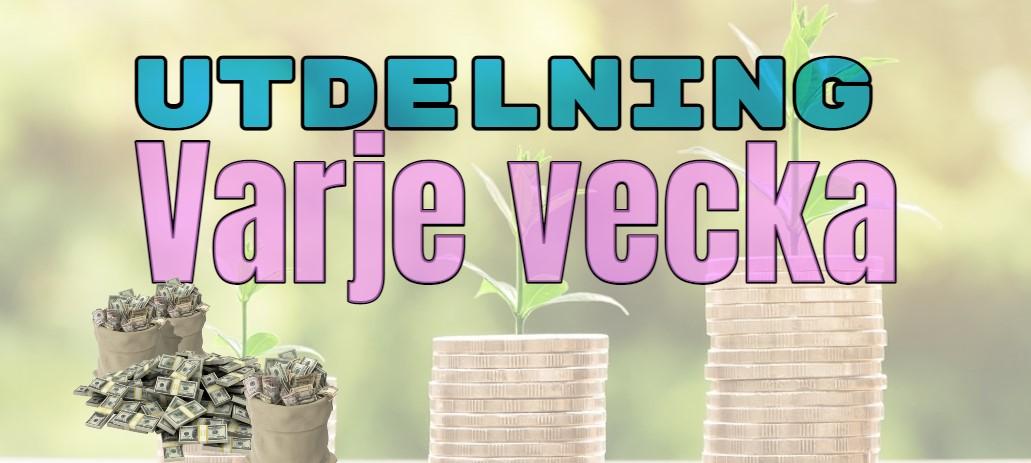 Utdelning varje vecka – weekly dividend